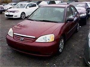 2002 HONDA CIVIC DX  AUBAINE 1880$ TPS-TAXE INC 514-817-0095