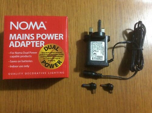 Noma+Dual+Power+Christmas+Light%2FDecoration+Battery+to+Mains+Adapter+Transformer