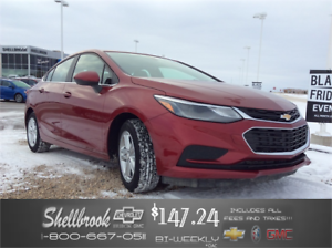 2017 Chevrolet Cruze LT-SUNROOF,4G WIFI,REMOTE START $147.24 BW