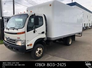 2010 Hino 155 Cube van - 16 ft. length - Heated Cargo area