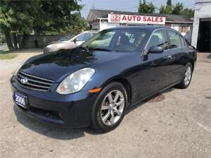 2006 Infiniti G35X Accident Free/Automatic/AWD/Leather/Sunroof