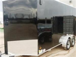 NEW ALL ALUMINUM 7X12 AND 7X14 7X16 V NOSE ENCLOSED CLEAROUT