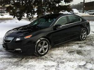 2012 ACURA TL TECH PKG SH-AWD |NAV|CAMERA|PADDLESHIFT|SKIRT PKG