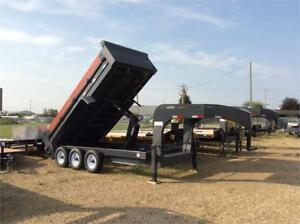 2019 Precision 7x16 Gooseneck triple axle dump trailer