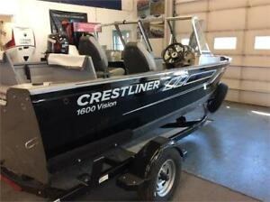REDUCED TO CLEAR! 2017 CRESTLINER 1600 VISION