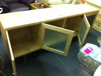 Glass & wood side board 4 doors