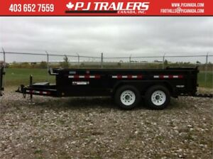 "14' Dump Trailer Low Profile (20"" deck height) 14000GVWR"