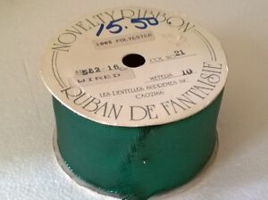 Large roll of metallic green wide ribbon Brand New London Ontario image 1