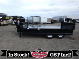 """HOT DEAL!! 14' OVER THE AXLE DUMP TRAILER *18"""" FOLD-DOWN SIDES*"""