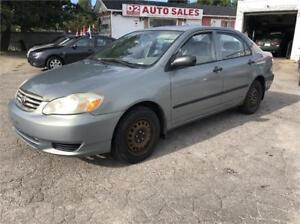 2003 Toyota Corolla CE/Automatic/Gas Saver/AS IS SPECIAL