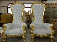 Event Hire,Throne chairs,Tables,chairs,Led sign,chaffing dishes