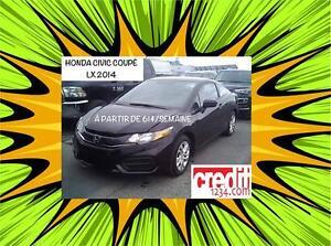 2014 Honda Civic Coupé LX, À PARTIR DE 61$/SEMAINE 100% APPROUVÉ