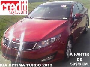 2013 Kia Optima EX Turbo, À PARTIR DE 58$/SEM. 100% APPROUVÉ !