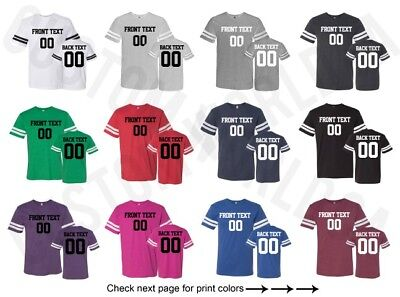 Customized Adult Football Jersey Shirts Text Name Number Team Personalized Tee (Personalized Footballs)