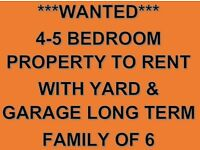 ****WANTED**** 4 - 5 BEDROOM PROPERTY WITH YARD & GARAGE LISBURN AREA