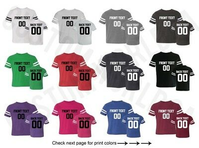 Customized Toddler Football Jersey Tee Team Name Number Text Personalized Shirt  ()