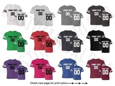 Customized Toddler Football Jersey Tee Team Name Number Text Personalized Shirt