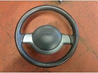 Smart Car Leather 698 Roadster Fortwo Steering wheel