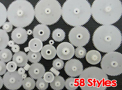 58 Styles Plastic Gears Cog Wheels All The Module 0 5 Robot Parts Diy Necessary