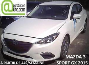 2015 Mazda Mazda3 GX, À PARTIR 44$/SEMAINE 100% APPROUVÉ !!