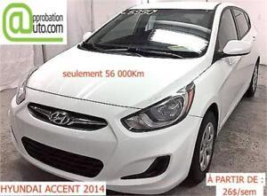 2014 Hyundai Accent L, À PARTIR DE 26$/SEM. 100% APPROUVÉ !
