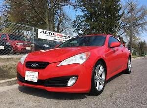 2010 HYUNDAI GENESIS COUPE RALLY RED!6SPEED LEATHER LOADED!