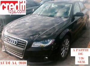 2010 Audi A4 2,0T, À PARTIR DE 76$/sem. 100%approuvé !!!
