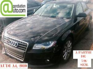 2010 Audi A4 2,0T, à partir de 72$/sem.100% approuvé, tout cuir