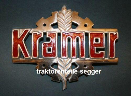 Kramer Haubenemblem Emblem Haubenzeichen Traktor Schlepper  Foto 1