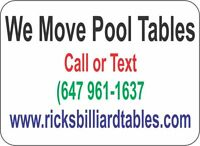 POOL TABLE MOVING &  SERVICE  (647) 961-1637