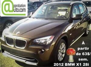 2012 BMW X1 28i À PARTIR 63$/SEMAINE 100% APPROUVÉ