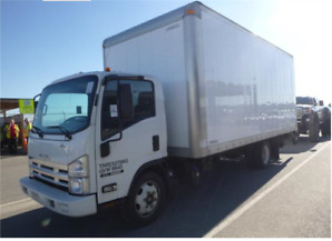 2015 ISUZU NRR DIESEL 18 FT DRY BOX WITH POWER LIFTGATE