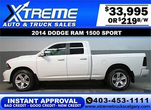 2014 DODGE RAM SPORT CREW *INSTANT APPROVAL* $0 DOWN $219/BW