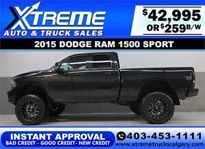 2015 DODGE RAM HEMI LIFTED *INSTANT APPROVAL* $0 DOWN $259/BW!