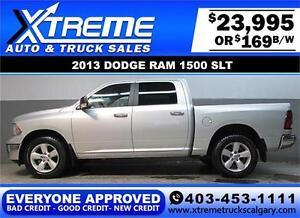2013 DODGE RAM SLT 4X4 CREW *EVERYONE APPROVED* $0 DOWN $169/BW