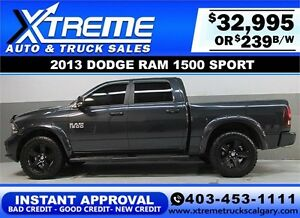 2013 DODGE RAM SPORT LIFTED *INSTANT APPROVAL* $0 DOWN $239/BW!