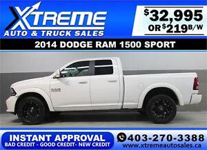 2014 DODGE RAM SPORT CREW *INSTANT APPROVAL* $0 DOWN $219/BW!