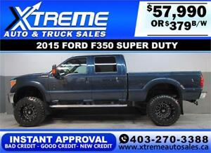 2015 FORD F-350 LARIAT DIESEL LIFTED *INSTANT APPROVAL* $379/BW