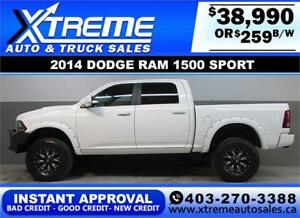 2014 DODGE RAM SPORT LIFTED *INSTANT APPROVAL* $0 DOWN $259/BW!