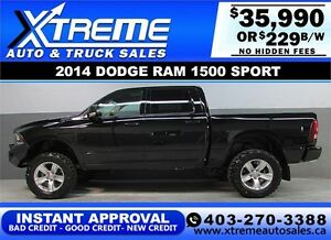 2014 DODGE RAM SPORT LIFTED *INSTANT APPROVAL* $0 DOWN $229/BW!