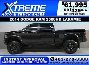 2014 DODGE RAM DIESEL LIFTED *INSTANT APPROVAL* $0 DOWN $429/BW!