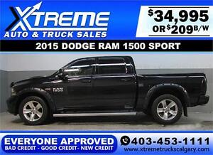 2015 DODGE RAM SPORT CREW *EVERYONE APPROVED* $0 DOWN $209/BW
