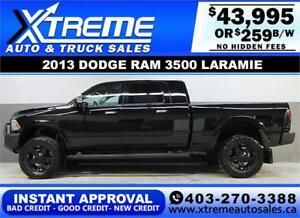 2013 DODGE RAM 3500 MEGA CAB LIFTED *INSTANT APPROVAL* $259/BW