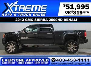 2012 GMC DENALI DIESEL LIFTED EVERYONE APPROVED $0 DOWN $319/BW