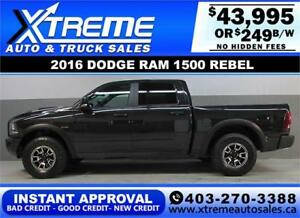 2016 DODGE RAM REBEL CREW *INSTANT APPROVAL* $0 DOWN $249/BW!