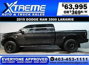 2015 RAM 3500 DIESEL LIFTED *EVERYONE APPROVED* $0 DOWN $369/BW!