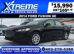 2014 Ford Fusion SE $105 bi-weekly APPLY NOW DRIVE NOW