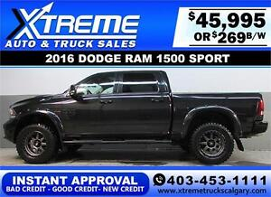 2016 DODGE RAM SPORT LIFTED *INSTANT APPROVAL* $0 DOWN $269/BW!