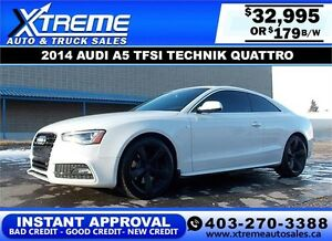 2014 Audi A5 S-Line TECHNIK $179 bi-weekly APPLY NOW DRIVE NOW