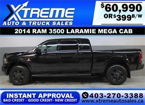 2014 RAM 3500 MEGA CAB LIFTED *INSTANT APPROVAL $0 DOWN $359/BW!